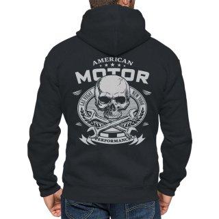 Rebel on Wheels Motorbike Hoodie Aramid FTW Bone Hand Black Hooded Jacket Motorcycle