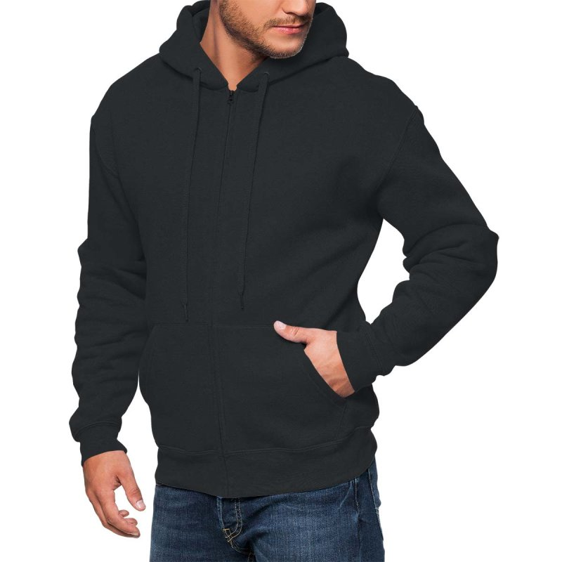 Rebel On Wheels Herren Kapuzenjacke Zip Hoodie American Motor Schwarz S