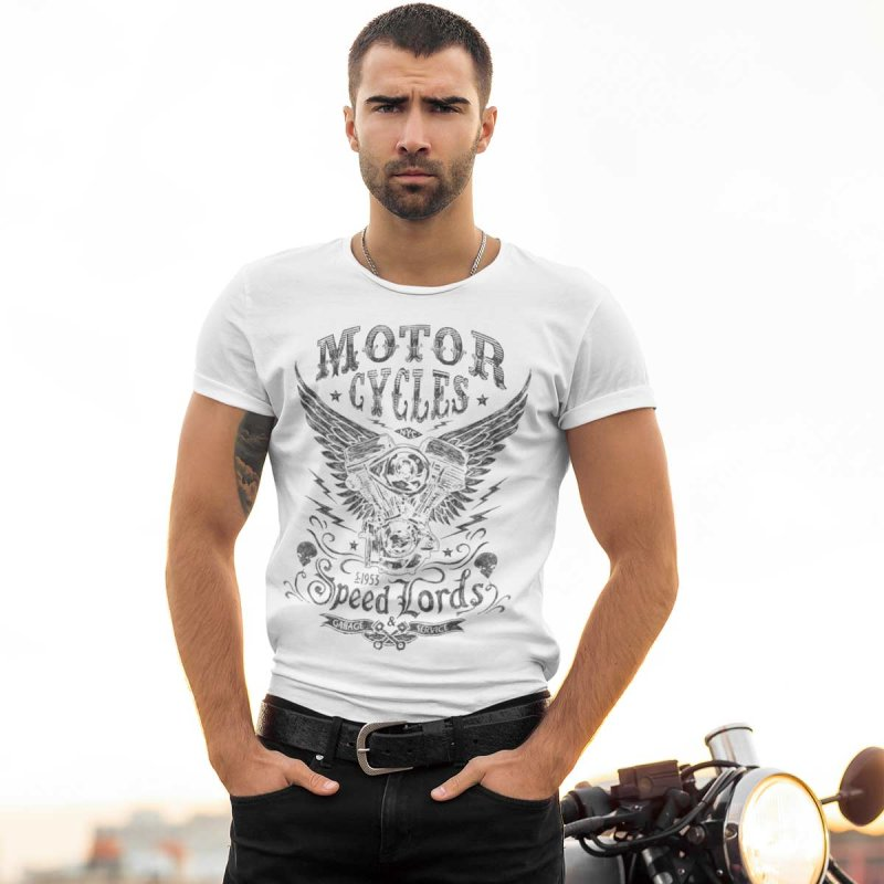 Rebel On Wheels Herren T-Shirt Tee Speedlords