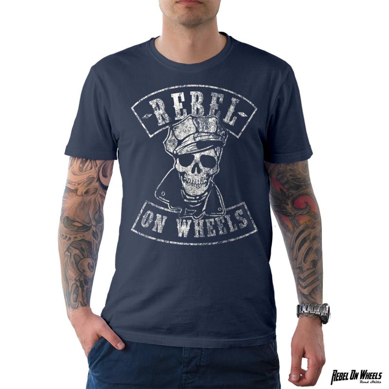 Rebel On Wheels Herren T-Shirt Tee The Rebel Denim S